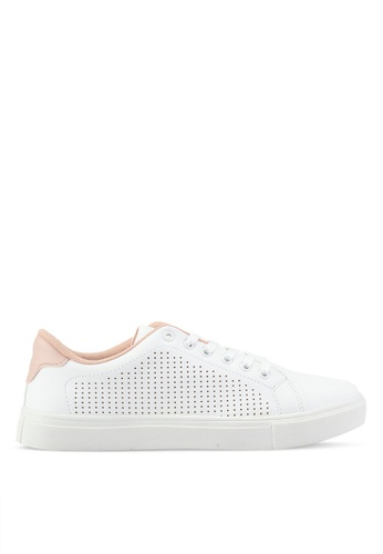 2f1ee08e52 High Sole Lace-Up Perforated-Side Sneakers