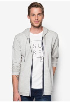Basic Hoodie Jacket With Front Tape