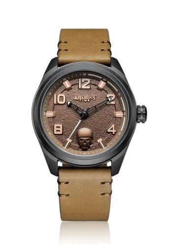 Assassin's Time brown Assassin's Time TIMBER Brown Leather A77D5AC33D1ABBGS_1