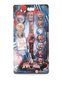 Ultimate Spider-Man Mix and Match Boys Plastic Strap Watch SPMRJ15-16