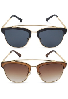 668a8a845a6 Sunglass Solutions black Anne 1010 Sunglasses Set of 2 SU074GL31QEEPH 1