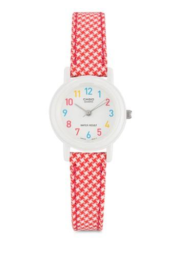Casio 經典款esprit taiwan格紋錶帶女性手錶, 錶類, 飾品配件