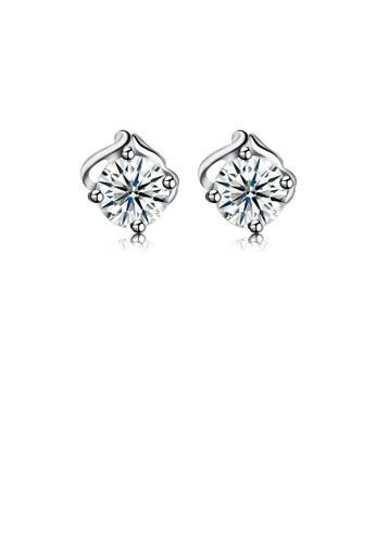 Glamorousky white 925 Sterling Silver Simple Elegant Exquisite Fashion Earrings and Ear Studs with Cubic Zircon 5CE32AC780E63EGS_1