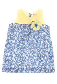 Infant Slanged Back Yoke Detailed Dress