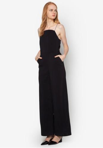 細肩帶闊腳連身長esprit retail褲, 服飾, 連身褲