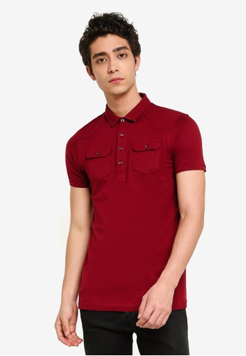 Brave Soul 紅色 短袖POLO衫 86AB3AA132065DGS_1