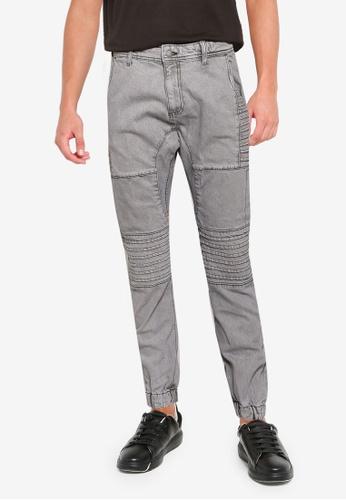 Cotton On grey Slim Denim Jogger (Moto) F17DAAAE902156GS_1