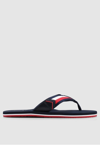 Tommy Hilfiger blue CORPORATE WEBBING BEACH SANDAL C28E3SHD4A16A3GS_1