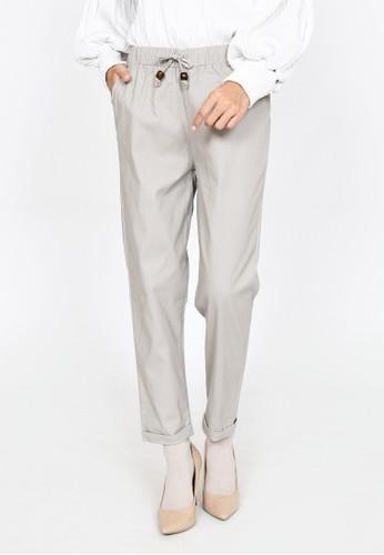 ZAHRA SIGNATURE grey Longpant Twill Basic Irma C5A33AA2E10CC9GS_1