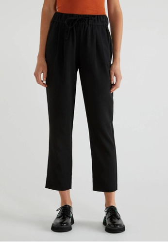United Colors of Benetton black Trousers with Drawstring BD737AA7DA17B6GS_1