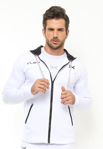 Flexzone white FLEXZONE Sport Hoodie Jacket Basepoint Series White 502A2AA14006C1GS_1