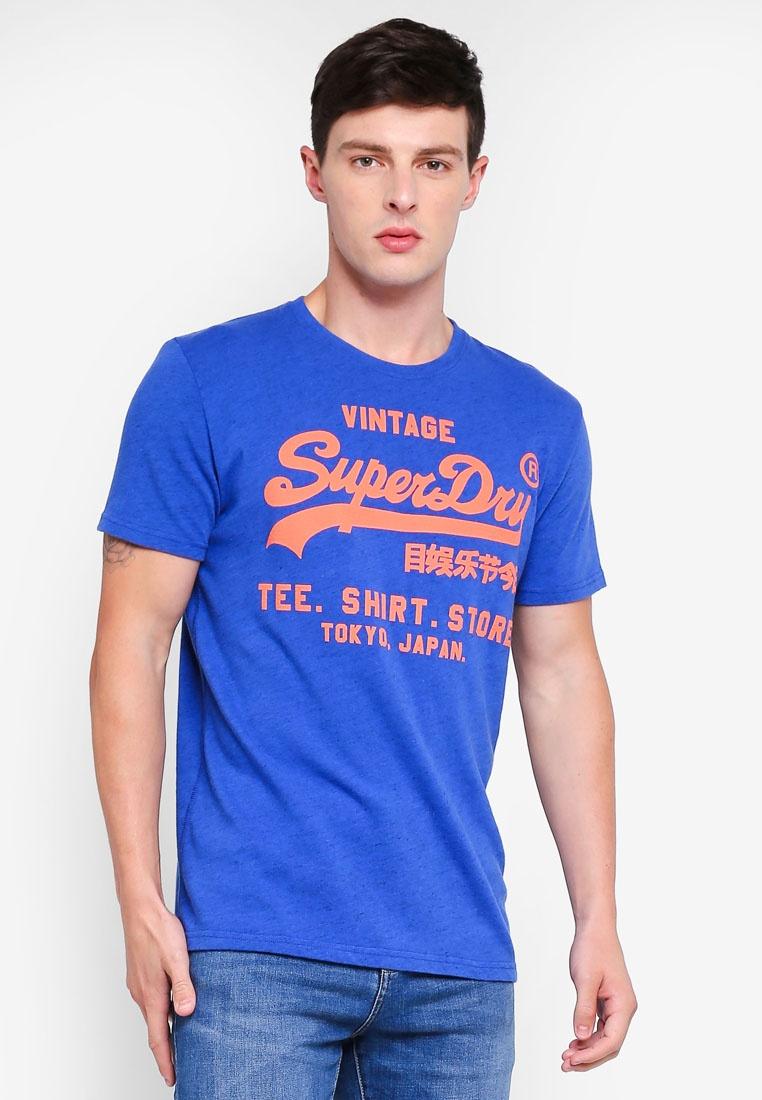 Portland Shop Cobalt Grit Superdry Tee Shirt xST4aqwPF