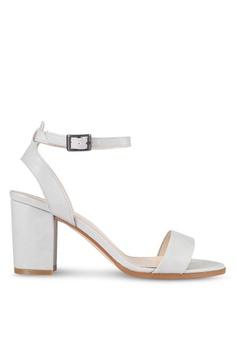 ZALORA grey PU Ankle Strap Sandal Heels 79095SH1E974C6GS_1