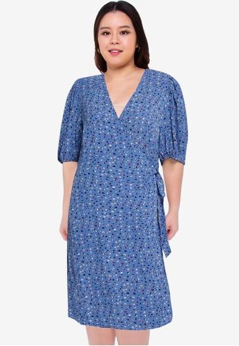 Junarose blue Plus Size Binta 2/4 Above Knee Dress 197D2AABC5ACB1GS_1