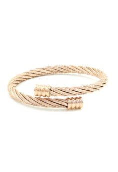 Alix Twisted Cable Wire End Cuff Bracelet