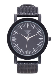 Watch With Dots Textured Strap
