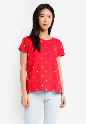 REGATTA red Tee With All-Over Print 05B2BAAC827664GS_1
