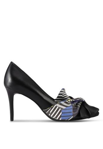 House of Avenues black Color Block Bow Pump Heels FEB41SH769DDB4GS_1