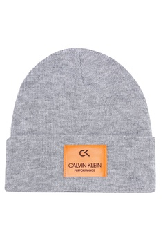 0a1b1c19b79 Calvin Klein grey Ribbed Knit Foldover Beanie 1EBC9AC9356AD1GS 1