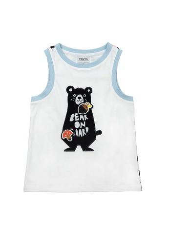 Vauva white Vauva Boys Bear Vest w/ Nut & Mushroom Velcro Straps - White 92EEFKA87BEB29GS_1
