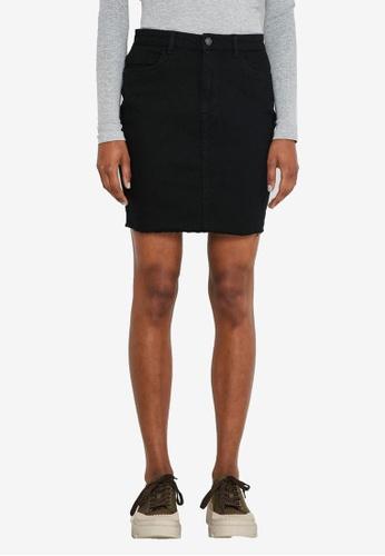 Noisy May black Callie High Waisted Denim Skirt 6657FAAA1FC64EGS_1