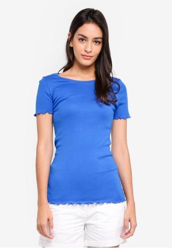 Dorothy Perkins blue Lettuce Edge Tee C45ACAA1B40C63GS_1