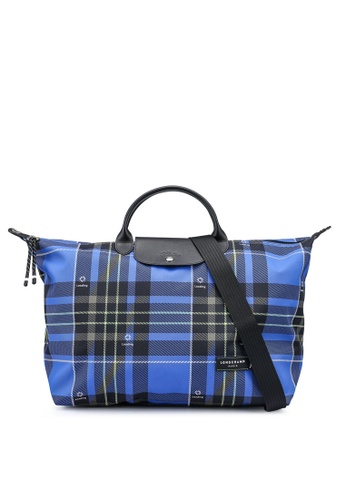 LONGCHAMP blue Green District Printed Travel Bag (zt) 456C2AC9BA4844GS_1