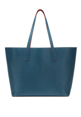 MISCHA blue MISCHA Monogram Tote - Fern 78D76AC8B6E90DGS_1