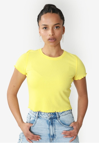 PIMKIE yellow Short T-Shirt 55257AA1EB7827GS_1