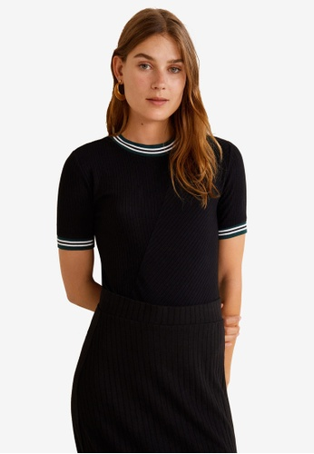 Mango black Short Sleeve Bodysuit CB88EAA15FFB25GS_1
