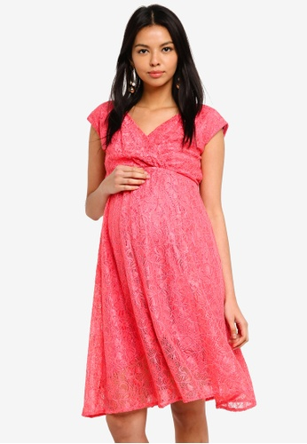 Tiffany Rose pink Maternity Nicola Lace Dress B79AAAACECD188GS_1