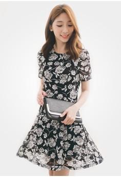 Floral Rose Blooms Dress