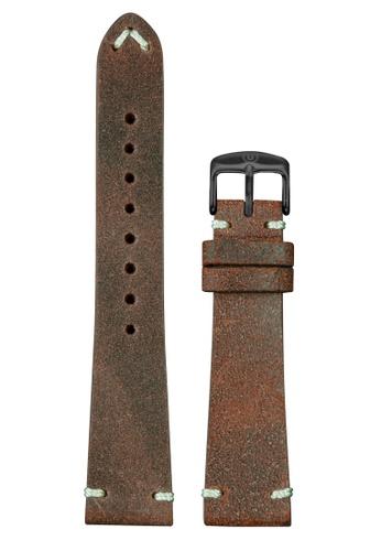 Undone brown Undone Vintage Brown Calf Leather Strap 20mm (Black Buckle) UN712AC2VEK9HK_1
