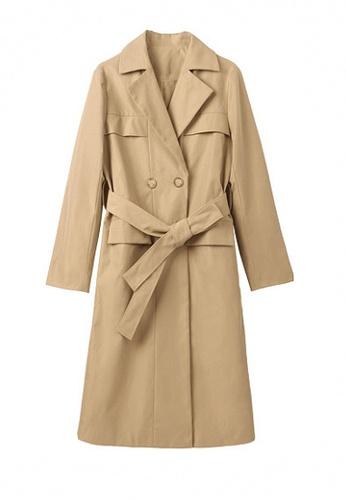 Twenty Eight Shoes brown VANSA Solid Color Double Button Mid-Length Coat  VCW-C88382 64A5EAAAC3FEC4GS_1