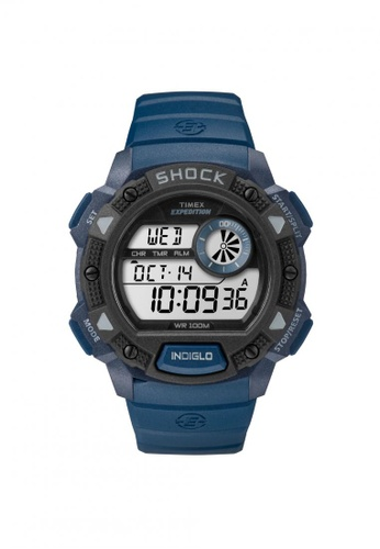 TIMEX blue Timex Expedition® Base Shock - Blue Resin Strap (TW4B07400) TI857AC60QQXSG_1
