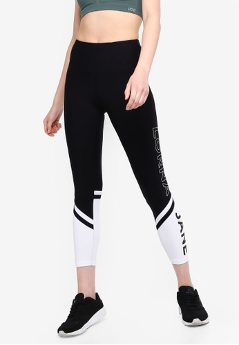 b285ff1f1d Lorna Jane black and multi Dynamic Core Ankle Biter Tights  EA3D2AA67C9926GS_1