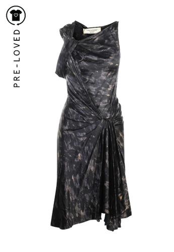 David Szeto black Pre-Loved david szeto Black Printed Silk Dress F7529AAC00555EGS_1