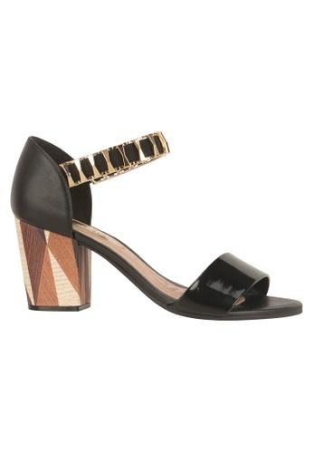 Beira Rio black Bracelet Strap Block Heeled Sandal BE995SH08ERJHK_1
