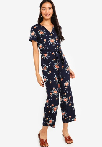 ZALORA multi and navy Notch Neck Jumpsuit 1CD35AAAF7A74DGS_1