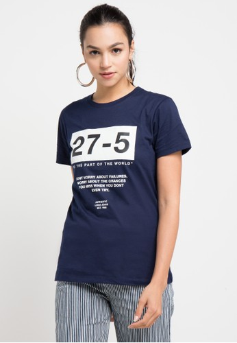 Logo Jeans multi and navy Try Tee E52A4AACC4C662GS_1