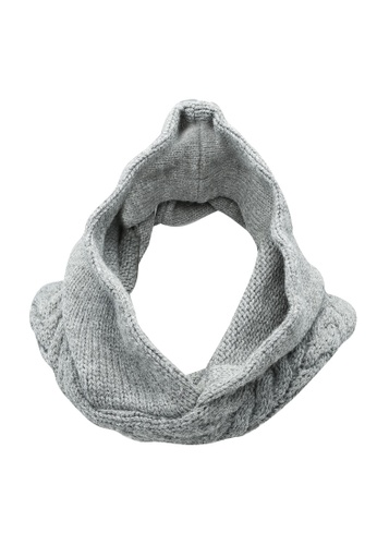 niko and ... grey Knit Neck Scarf F464EACE067B7EGS_1