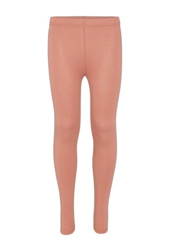 Gen Woo pink Basic Legging by Gen Woo 519A6KA50834D2GS_1