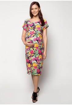 Maternity Midi Pocket Dress