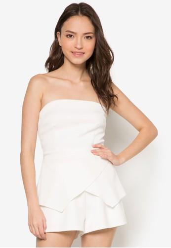 抹胸裹飾連身褲, 服飾, zalora時尚購物網評價服飾