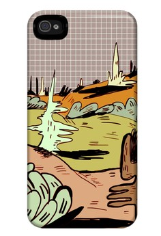 Valley of Confusion Matte Hard Case for iPhone 4, 4s
