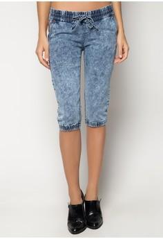 Breezie Low Rise Denim Cuffed Jeans