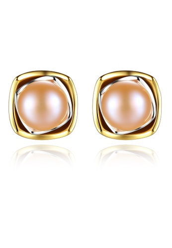 SUNRAIS gold High-grade color stone golden fashion earrings 12052ACD292EFAGS_1