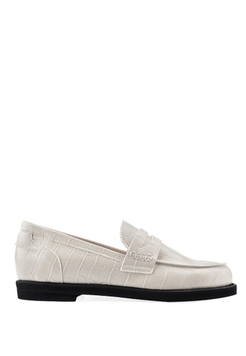 SPUR white Crocodile Penny Loafer 30082SHB78AABFGS_1