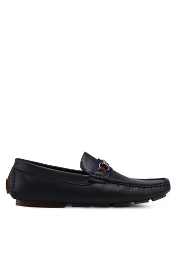 UniqTee black Loafers with Web and Horsebit 0849DSHFE478FEGS_1