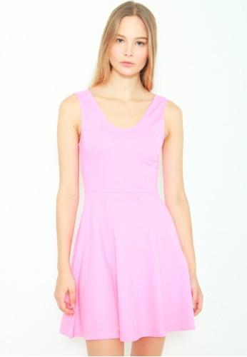 DENIZEN pink DENIZEN Women's Fit & Flare Dress - Sea Pink DZ-56019-0723 F78EFAAC566386GS_1
